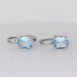 Jewelry - Sterling Silver Genuine Blue Topaz Earrings